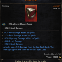 Mage Set Triple Spells Rolls Ring, 45% Occult Damage, 50 Critical Chance, 14% Damage From Last Spell