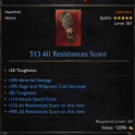 513 Heavy Gauntlet/Hand/Glove with 45% Material Damage, 105 Toughness, 39 power Decrease,