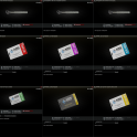 Lab. full keys set Red, Blue, Black, Yellow, Green, Violet + 7 Access cards + 3 keys