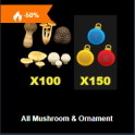 All Mushroom & Ornament - Fast delivery 24/7 online Cheap Animal Crossing items