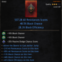 ★★★BEST SHIELD 537 ALL RES (Allow AETHER JUMP, 48.5% block, 28.3% effic) - INSTANT DELIVERY★★★