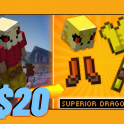 [Minecraft Hypixel Skyblock] Superior Dragon Set ($20)