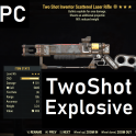 Two Shot Explosive Laser Rifle 90% Reduced Weight TSE90