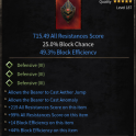 Best Shield Cast with 2 Skills and 49.3% High Block Efficiency