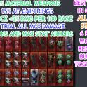 FULL BAG 36xMAX STATS ITEMS ✅BEST 100% BLOCK&CRIT&EFFI& MORE BEST 6 BUILDS TOGETHER JUST 10$ +Gifts✅