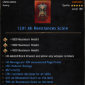 PERFECT Heavy Chest | +1201 All Resist | 45% Material DMG | 39% CDR | 85 Ferocity | 4% Damage Uncons