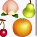 Fruits package(Peach*10+pear*10+apple*10+orange*10+coconut*10+cherry*10)
