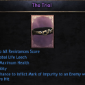 New Trial Belt!Cheapest Price, 29% to All Resistances Score, 1174 Health, 41 Agility