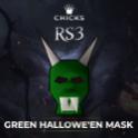 Green Hallowe'en Mask  [FAST DELIVERY]