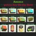 Ammo price for 5k(in list(.45/.50/5.56/5mm/Fusion Cell/Plasma Cartridge/Ultacite (45/50/5.56/5mm) et
