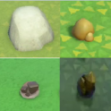 Stone package (stone*30+gold nugget*30+iron nugget*30+clay*30)