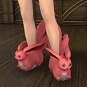 Ruby Carbuncle Slippers--FFXIV All Servers