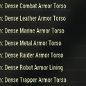 [PC] Dense Armor Torso Plans Pack   7 plans (list of plans in the pictures) - Fast Delivery