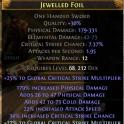 One Handed Sword Corrupted (foil) with 3 white sck - 609 total dps