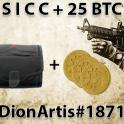 Small S I C C case (SICC) + 25 physical Bitcoins