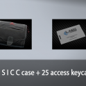 Small S I C C case + 25 access keycards