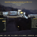 Bloodied Laser Rifle +  25% faster fire rate  + 1 perception