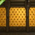 Three Golden Upholstered Interior Walls--FFXIV All Servers