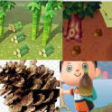 material package(bamboo piece*30+acorn*30+young spring bamboo*30+pine cone*30)
