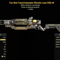 Two Shot Tuned Automatic Ultracite Laser Rifle- Level 50