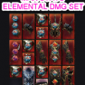 ✅☣ARCTIC SPEAR ELEMENTAL OR OCCULT MAGE BUNDLE ☣ALL MAX ROLLS✅+ 20 RARE DYES + 5B GOLD 500M AFFINITY - image