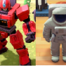 Rare dress up items,total 10items,click deescription(robot hero+monster statue+teacup ride+lighthous - image