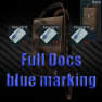 Documents case Full Key card with a blue marking - image
