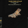 Cavalier's Raider Left Leg- Level 45 (-8% damage Form Players) - image
