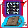 Lab. full keys set Red, Blue, Black, Yellow, Green, Violet + 7 Access cards + 3 keys - image