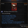 Mage Set Ring with 60% Critical Damage, 2 Spells, +2 Ailment Stacks, 14% Damage From Last Skill - image