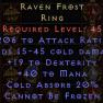 Ravenfrost Unique Ring - D2R Softcore PC - image