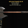Anti-armor Grognak's Axe- Level 50 - image