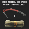 ❤️Red Rebel + Gift Paracord❤️ - image