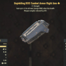 Unyielding BOS Combat Armor Right Arm- Level 50 (Weapons Weights Reduced by 20%) - image
