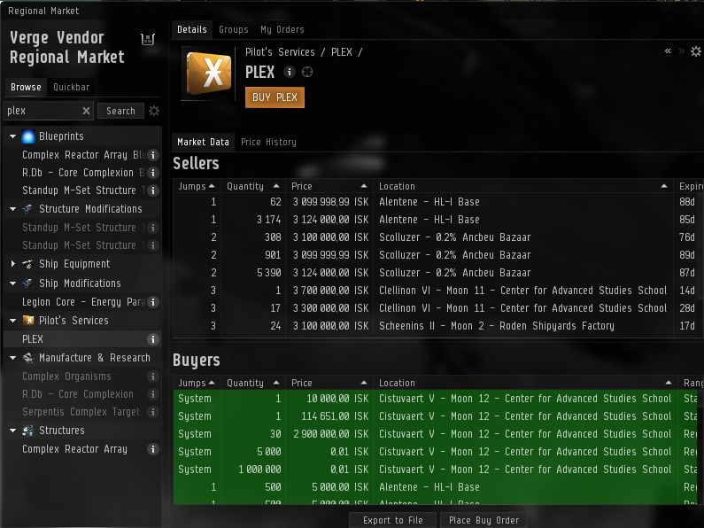 Eve Online Marketplace Trade Isk Plex Skill Injectors