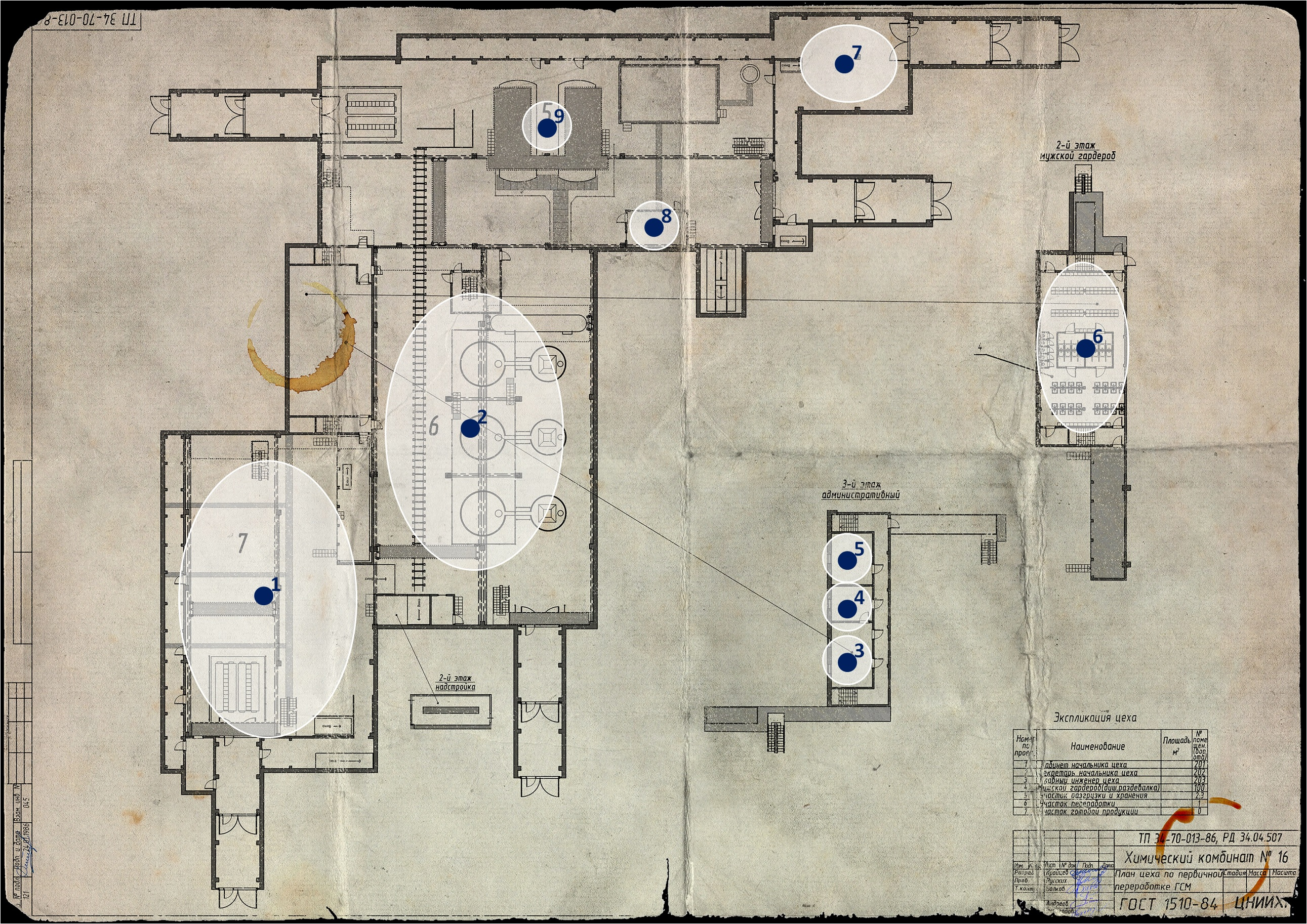 Points of Interest on the Factory map