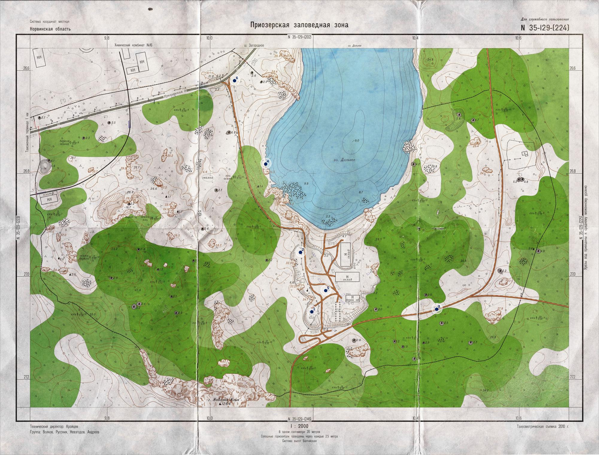 Key Spawn map of Woods