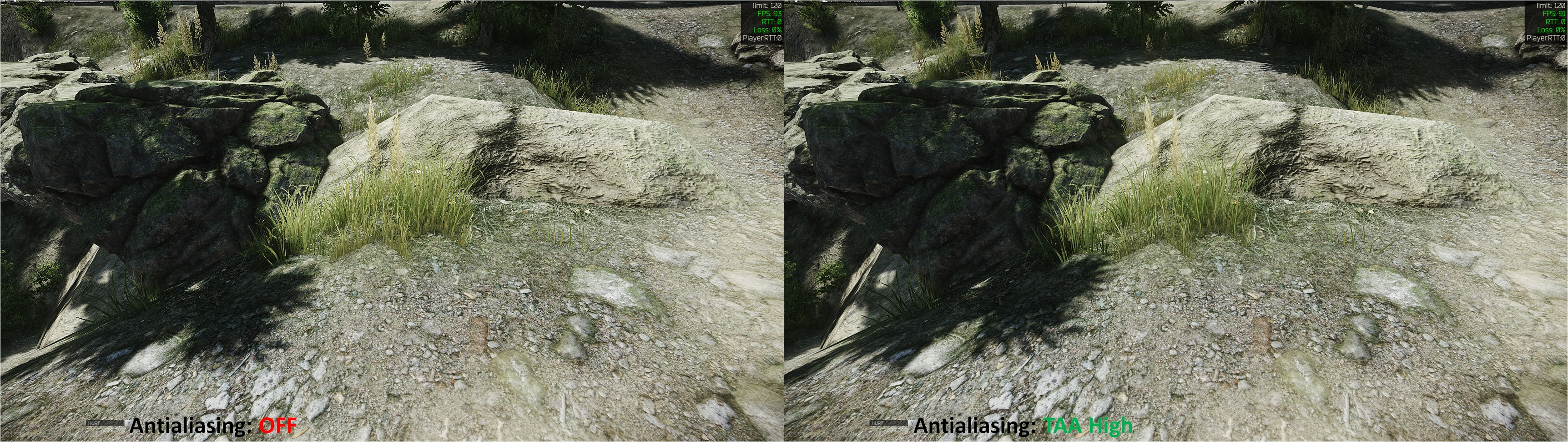Tarkov Antialiasing Comparison