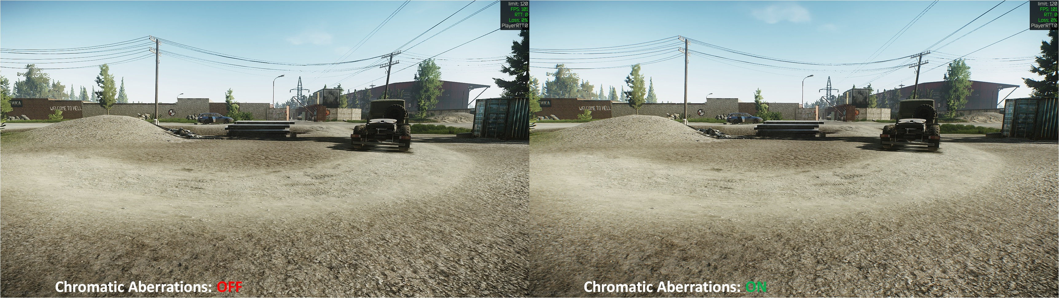 Tarkov Chromatic Aberrations Comparison