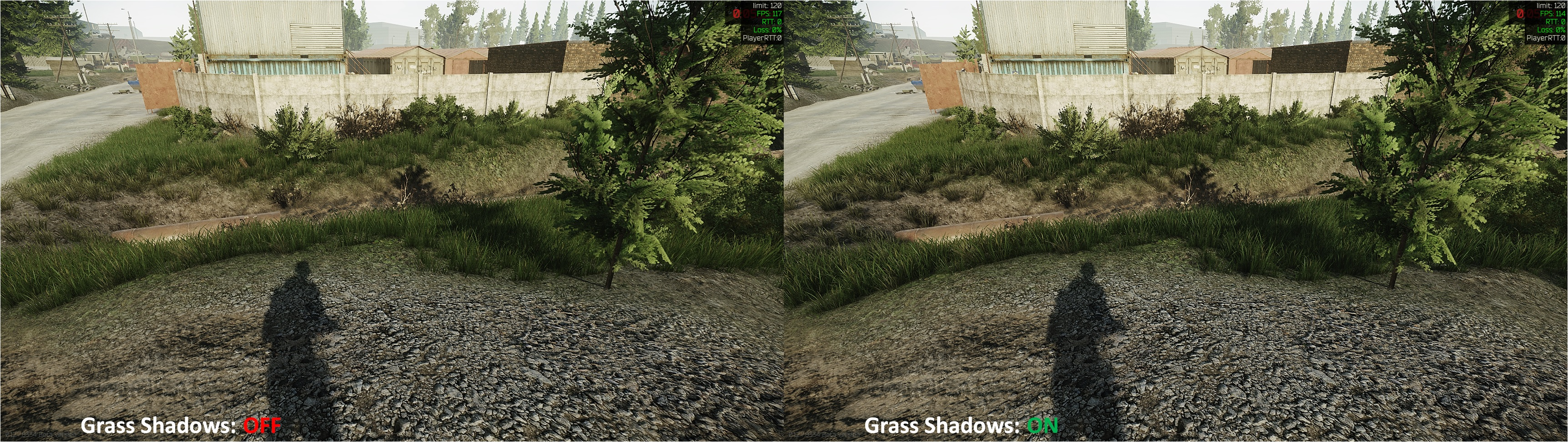 Tarkov Grass Shadows Comparison