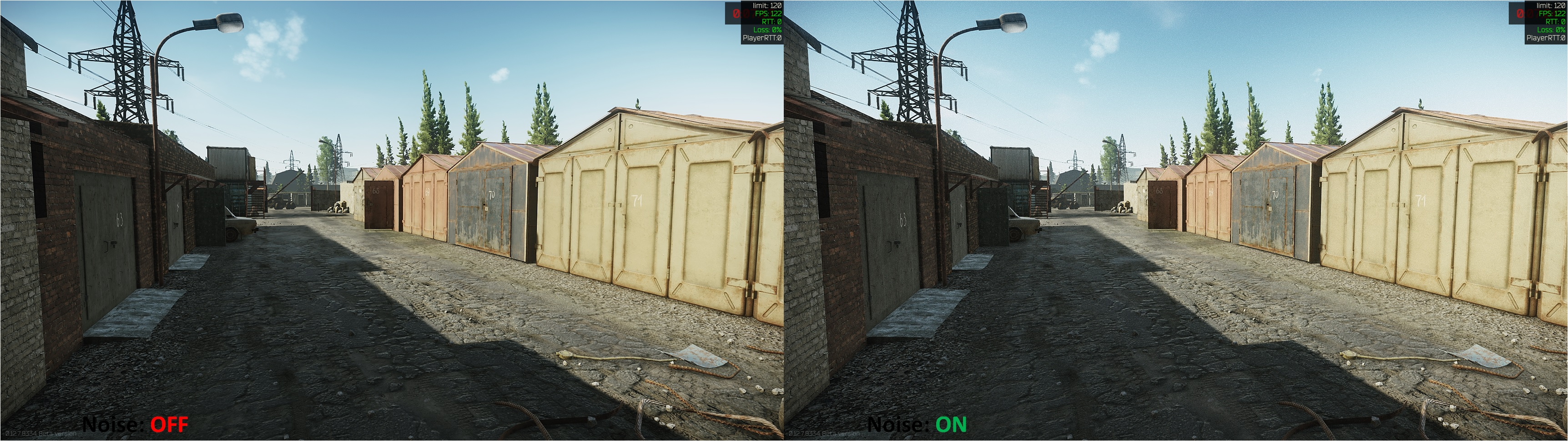 Tarkov Noise Comparison