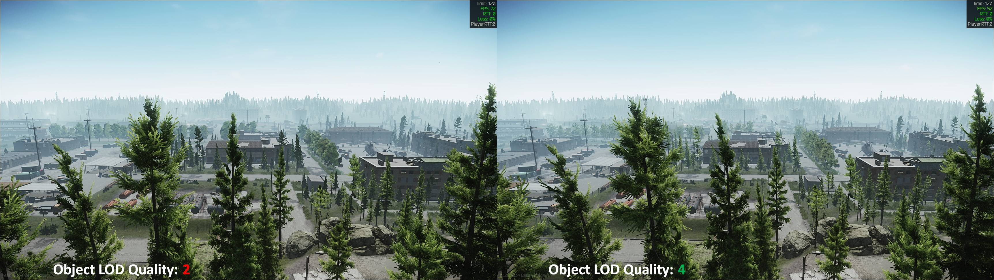 Tarkov Object LOD Quality Comparison