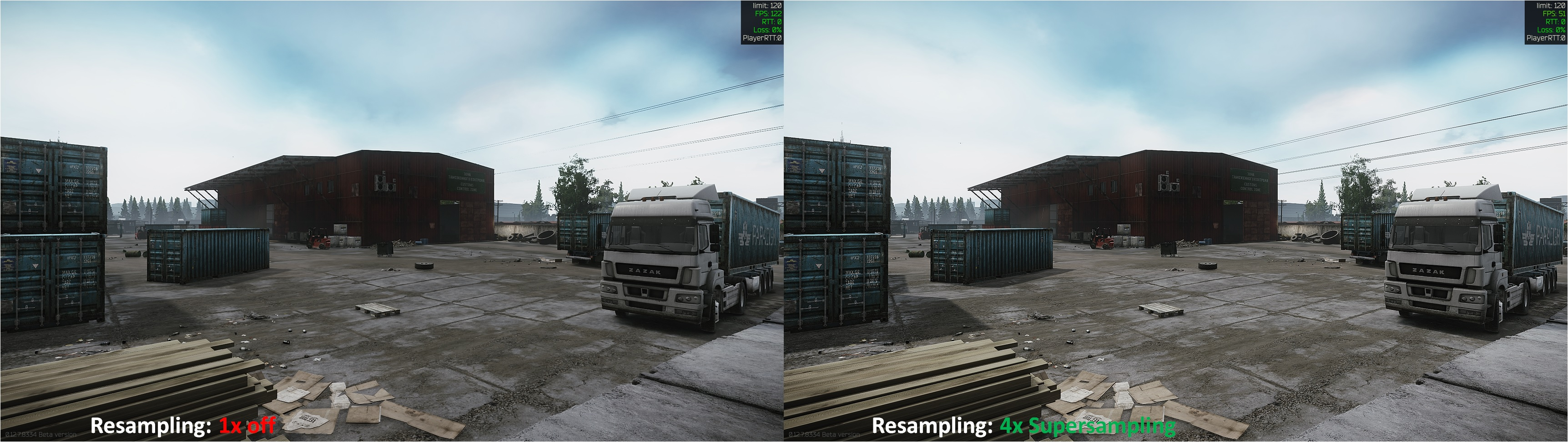 Tarkov Resampling Comparison