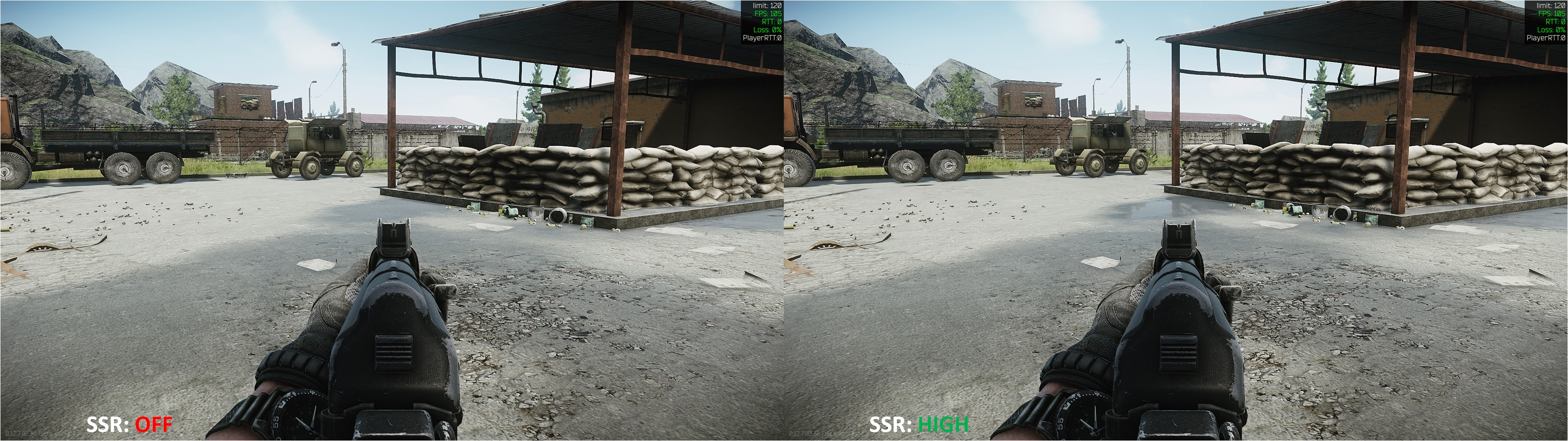 Tarkov SSR Comparison