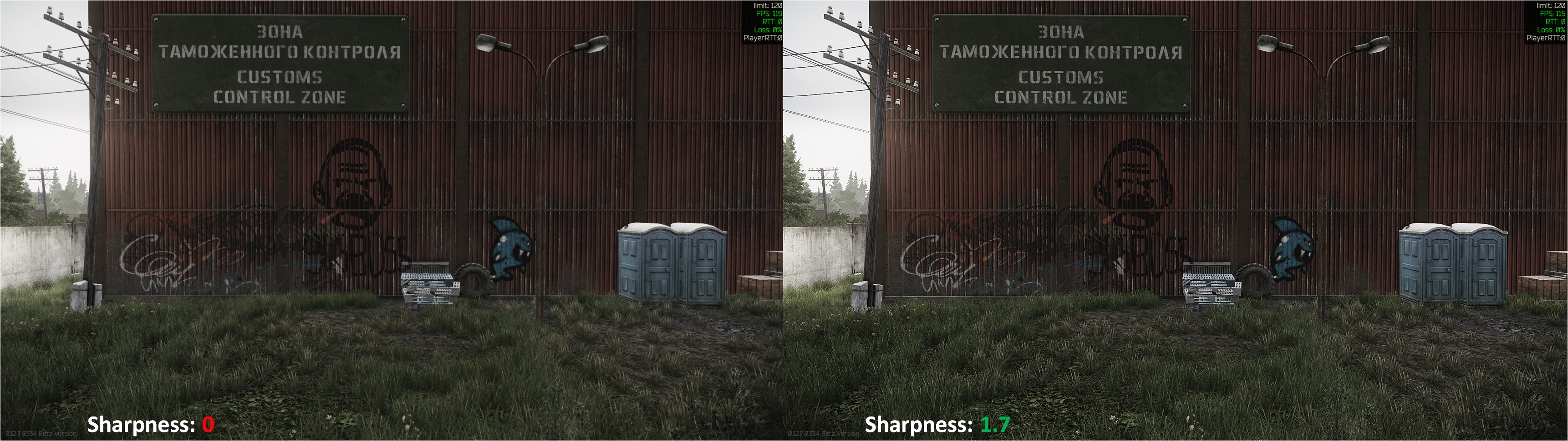 Tarkov Sharpness Comparison