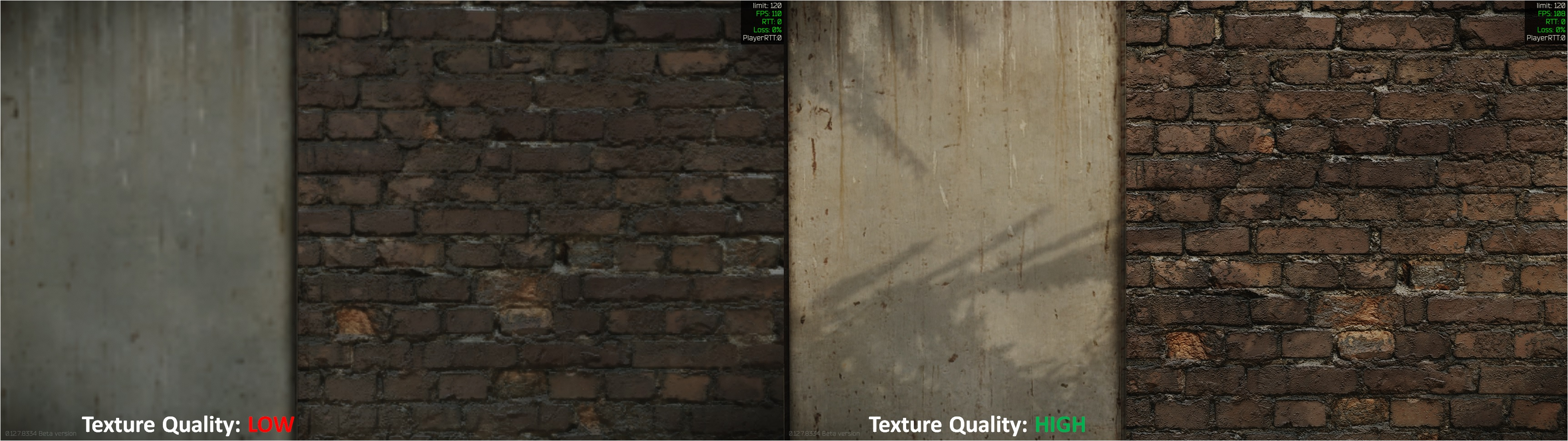 Tarkov Texture Quality Comparison