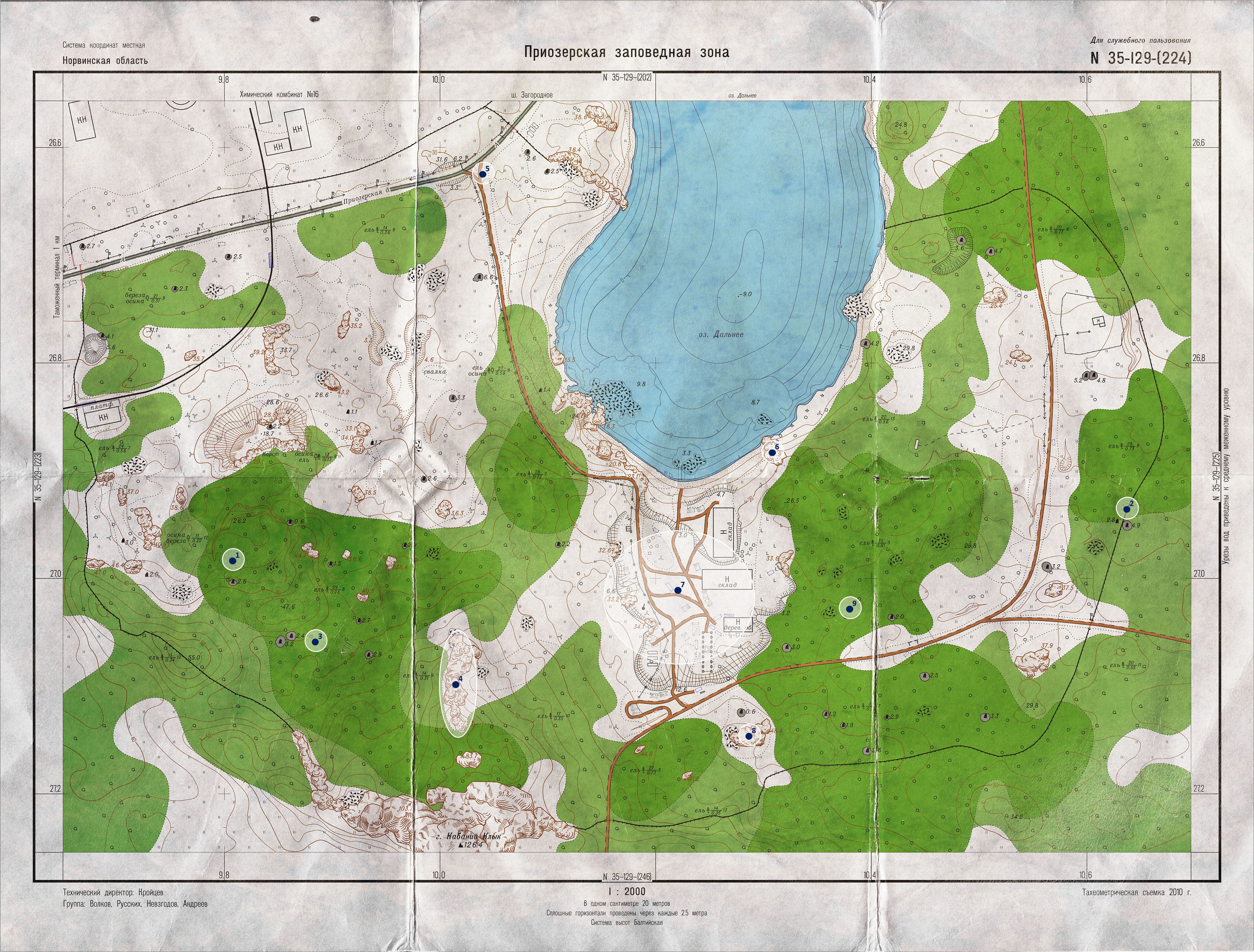 Points of Interest on the Woods map