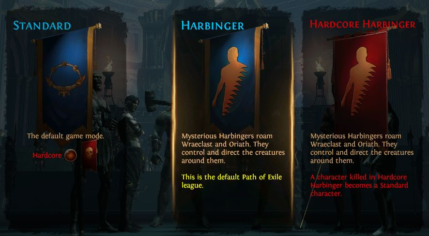 PoE Harbinger League and Game Modes