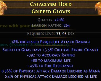 Cataclysm Hold