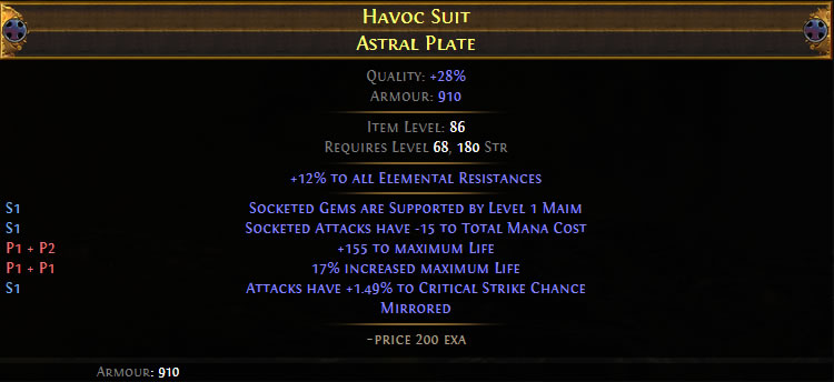 Havoc Suit